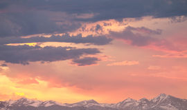 Magical Rocky Mountain Sunrise Stock Photography