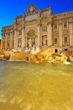 Magical roman nights at Fontana di Trevi Stock Image
