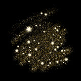 Magical sequin glowing space explosion of star dust. Stock Photography
