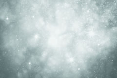 Magical silver blue color Christmas sky illustration background Stock Photo