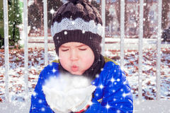Magical snow Stock Images