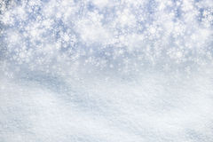 Magical snowfall copy space background Royalty Free Stock Photography