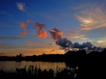 magical solnedgång royaltyfri fotografi