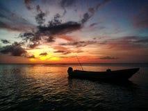 magical solnedgång Arkivfoto