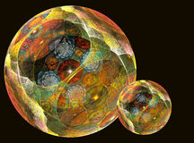 Magical spheres Royalty Free Stock Photo