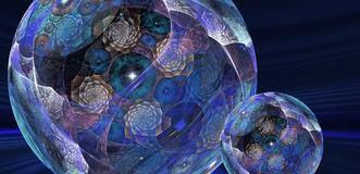 Magical spheres Stock Photo