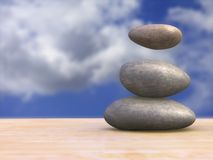 Magical stones. Some magical stones floating. CG illustration Stock Image