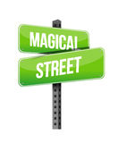 Magical street road sign illustration design Royalty Free Stock Photos