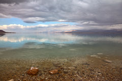 Magical sunset at the Dead Sea Stock Photo