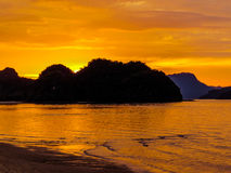 Magical sunset. In Langkawi, Malaysia Stock Photo