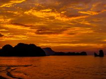 Magical sunset. In Langkawi, Malaysia Stock Photography