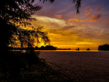 Magical sunset. In Langkawi, Malaysia Stock Image