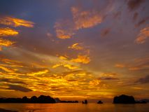 Magical sunset. In Langkawi, Malaysia Royalty Free Stock Image