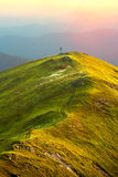 A magical sunset in the mountains Royalty Free Stock Photo