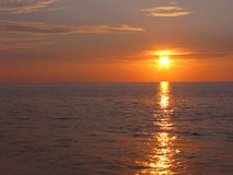 Magical sunset over sea Stock Photo