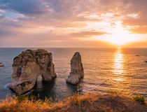Magical sunset in Beirut, Lebanon Stock Photography