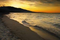 Magical Sunset Scenery Stock Photo
