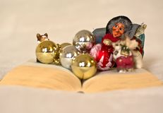 The magical tales of Christmas come to life from books Stock Photo