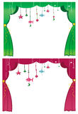 Magical theater curtain. Royalty Free Stock Photography