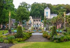 On the Grounds of Portmeirion Village royalty free stock images
