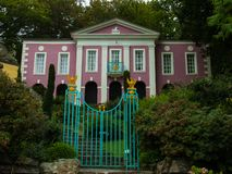 On the Grounds of Portmeirion Village stock photography