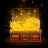 Magical treasure chest Stock Photos