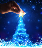Magical of tree christmas royalty free illustration