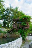 Magical tree house for relaxing or playing in the backyard. /garden royalty free stock photography