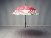 Magical umbrella Stock Photography