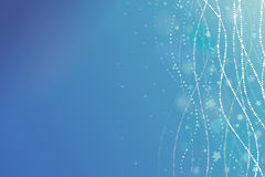 Magical underwater bubbles horizontal background Royalty Free Stock Photos