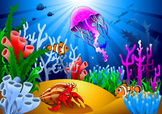 Magical underwater world Royalty Free Stock Photos