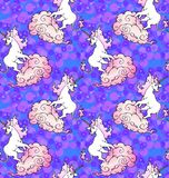 Magical unicorn wallpaper Stock Photo