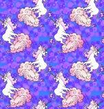 Magical unicorn wallpaper Stock Photo