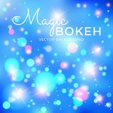Magical vector background with colorful bokeh Stock Photo