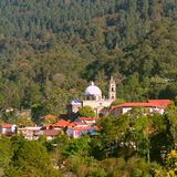 Magical village of Mineral del chico IV. Magical village of Mineral del Chico surrounded by forest, mexican state of Hidalgo royalty free stock image