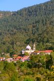 Magical village of Mineral del chico III. Magical village of Mineral del Chico surrounded by forest, mexican state of Hidalgo stock images