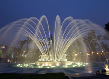 Magical Water Circuit in Reserve Park Lima Peru Stock Photography