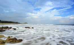 The Magical waves at Yarada Beach! Stock Images