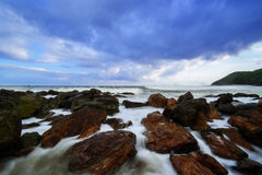 The Magical waves at Yarada Beach Stock Photos