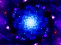 Magical zoomed mandala in space Stock Image