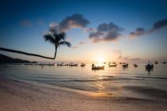 Magicat sunset on Koh Tao Stock Photography