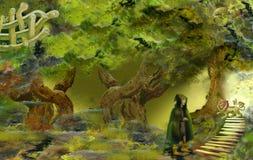 Magice skog Arkivfoto