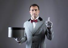 Magician's portrait Stock Photos