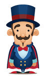 Magician. Smiling Magician. Cute Cartoon Character Stock Photography
