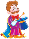 Magician. Isolated clip-art and children's illustration for yours design, postcard, album, cover, scrapbook, etc Royalty Free Stock Photos