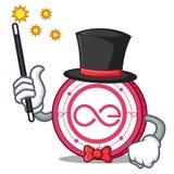 Magician Aeternity coin mascot cartoon. Vector illustration Royalty Free Stock Image