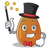 Magician almond nut character cartoon Stock Photography