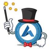 Magician Ardor coin mascot cartoon. Vector illustration Royalty Free Stock Photos