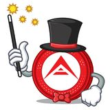 Magician Ark coin mascot cartoon. Vector illustration Royalty Free Stock Image