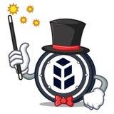 Magician bancor coin mascot cartoon. Vector illustration Stock Photo
